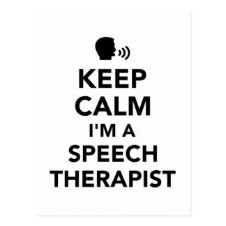 Keep calm I'm a speech therapist Postcard