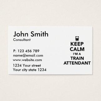 Keep calm I'm a train attendant Business Card