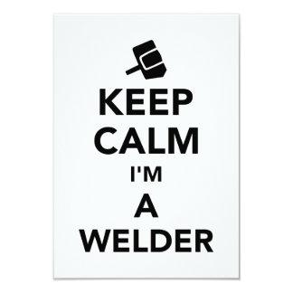 "Keep calm I'm a welder 3.5"" X 5"" Invitation Card"