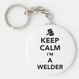 Keep calm I'm a welder Keychain