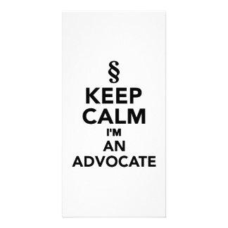 Keep calm I m an advocat Personalized Photo Card