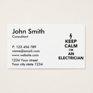 Keep calm I'm an electrician Business Card