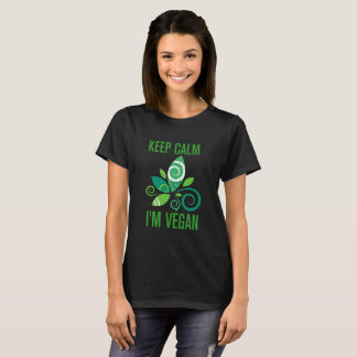 Keep calm i' m végan T-Shirt
