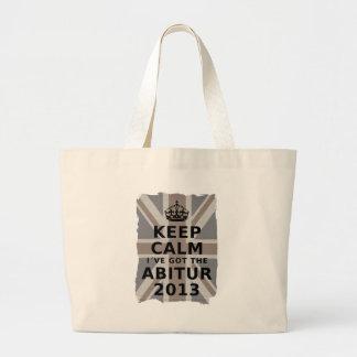 KEEP CALM I´VE GOT THE ABITUR 2013 LARGE TOTE BAG