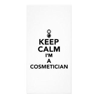 Keep calm I'm a Cosmetician Photo Cards