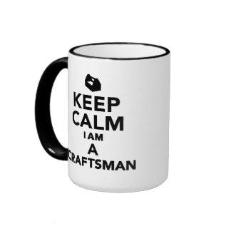 Keep calm I'm a Craftsman Coffee Mugs
