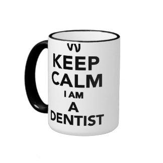 Keep calm I'm a Dentist Ringer Mug