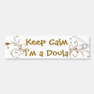 Keep calm I'm a Doula Gold Vines Bumper Sticker