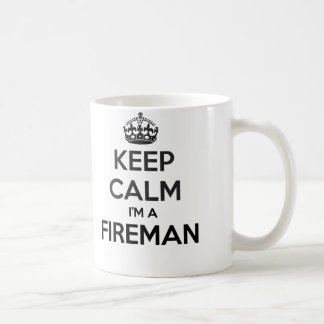 Keep Calm I'm A Fireman White Mug