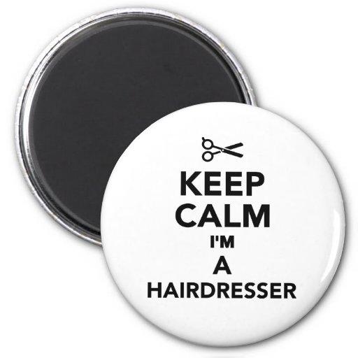 Keep calm I'm a Hairdresser Refrigerator Magnet
