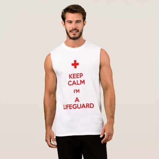 Keep Calm im a Life Guard Sleeveless Shirt