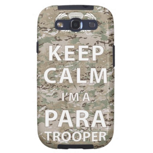 Keep Calm - I'm a Paratrooper Galaxy S3 Cases