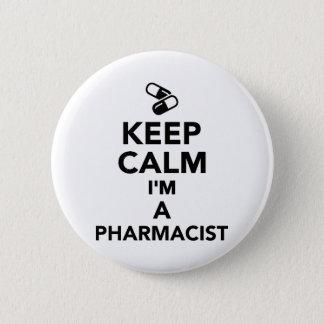 Keep calm I'm a Pharmacist 2 Inch Round Button