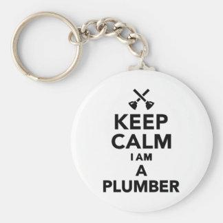 Keep calm I'm a Plumber Keychain