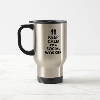 Keep calm I'm a Social worker Stainless Steel Travel Mug