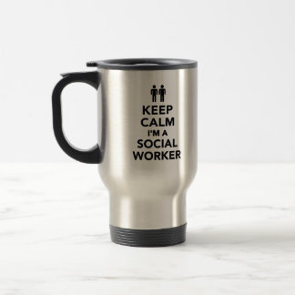 Keep calm I'm a Social worker Travel Mug