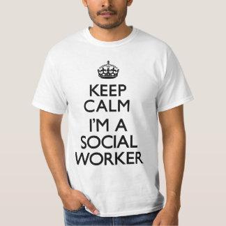 Keep Calm I'm A Social Worker Tshirts