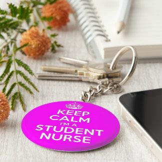 Keep Calm I'm A Student Nurse Keychain
