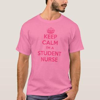 KEEP CALM I'M A STUDENT NURSE PINK NURSING GIFT T-Shirt