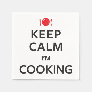 Keep Calm I'm Cooking Paper Napkins
