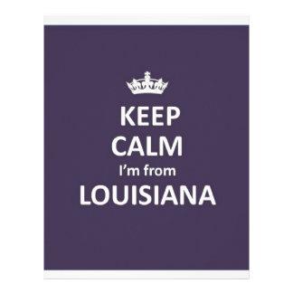 Keep calm I'm from louisiana Letterhead Design