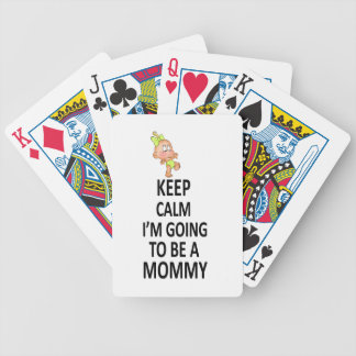 Keep Calm I'm Going To Be A Mommy Bicycle Playing Cards