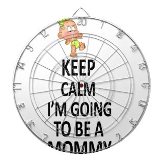 Keep Calm I'm Going To Be A Mommy Dartboard