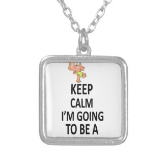 Keep Calm I'm Going To Be A Mommy Silver Plated Necklace
