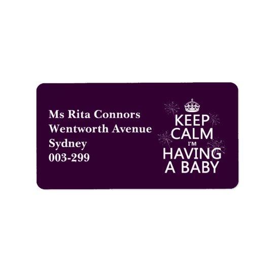 Keep Calm I'm Having A Baby (any colour)