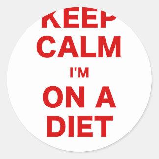 Keep Calm Im On a Diet Round Sticker