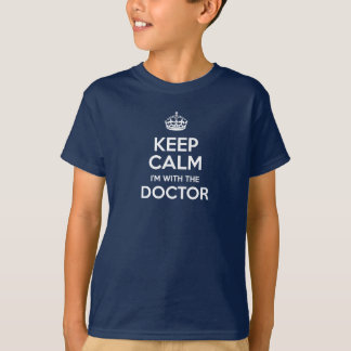 Keep Calm I'm With The Doctor (with crown) T-Shirt