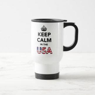 Keep Calm in the USA Travel Mug