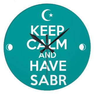 Keep Calm Islamic Large Clock