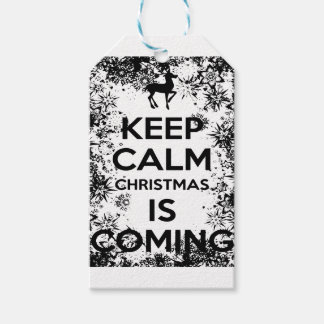 KEEP CALM IT CHRISMAS IS COMING.ai Gift Tags