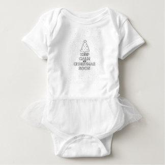 KEEP CALM IT IS CHRISMAS SOON.ai Baby Bodysuit