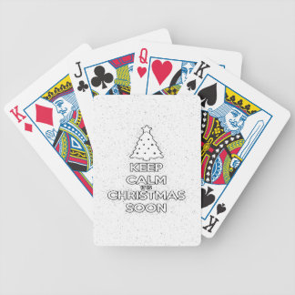 KEEP CALM IT IS CHRISMAS SOON.ai Bicycle Playing Cards