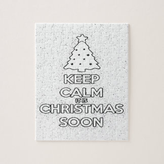 KEEP CALM IT IS CHRISMAS SOON.ai Jigsaw Puzzle