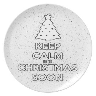 KEEP CALM IT IS CHRISMAS SOON.ai Plate