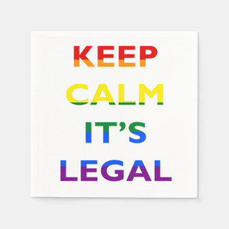 Keep Calm It's Legal Support LGBT Napkins Disposable Napkins