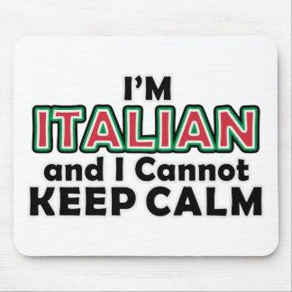 Keep Calm Italians Mouse Pad