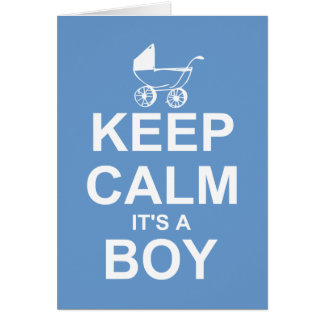 Keep Calm It's A Boy Thank You Notes
