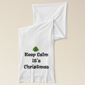 Keep Calm Its Christmas and Tree Scarf
