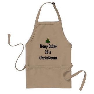 Keep Calm Its Christmas and Tree Standard Apron