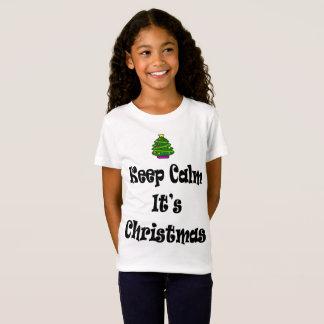 Keep Calm Its Christmas and Tree T-Shirt