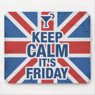 """""""Keep Calm it's Friday"""" Funny Mouse Pad"""