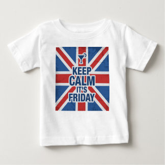 """""""Keep Calm it's Friday"""" Funny relax chill british Baby T-Shirt"""