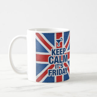 """Keep Calm it's Friday"" Funny souvenir Coffee Mug"