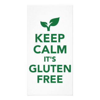 Keep calm it's gluten free photo card template