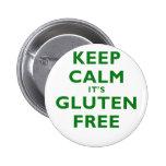 Keep Calm its Gluten Free Pinback Button