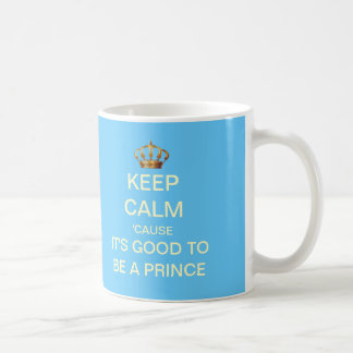 Keep Calm Its Good To Be A Prince Gift Mug (Blue)